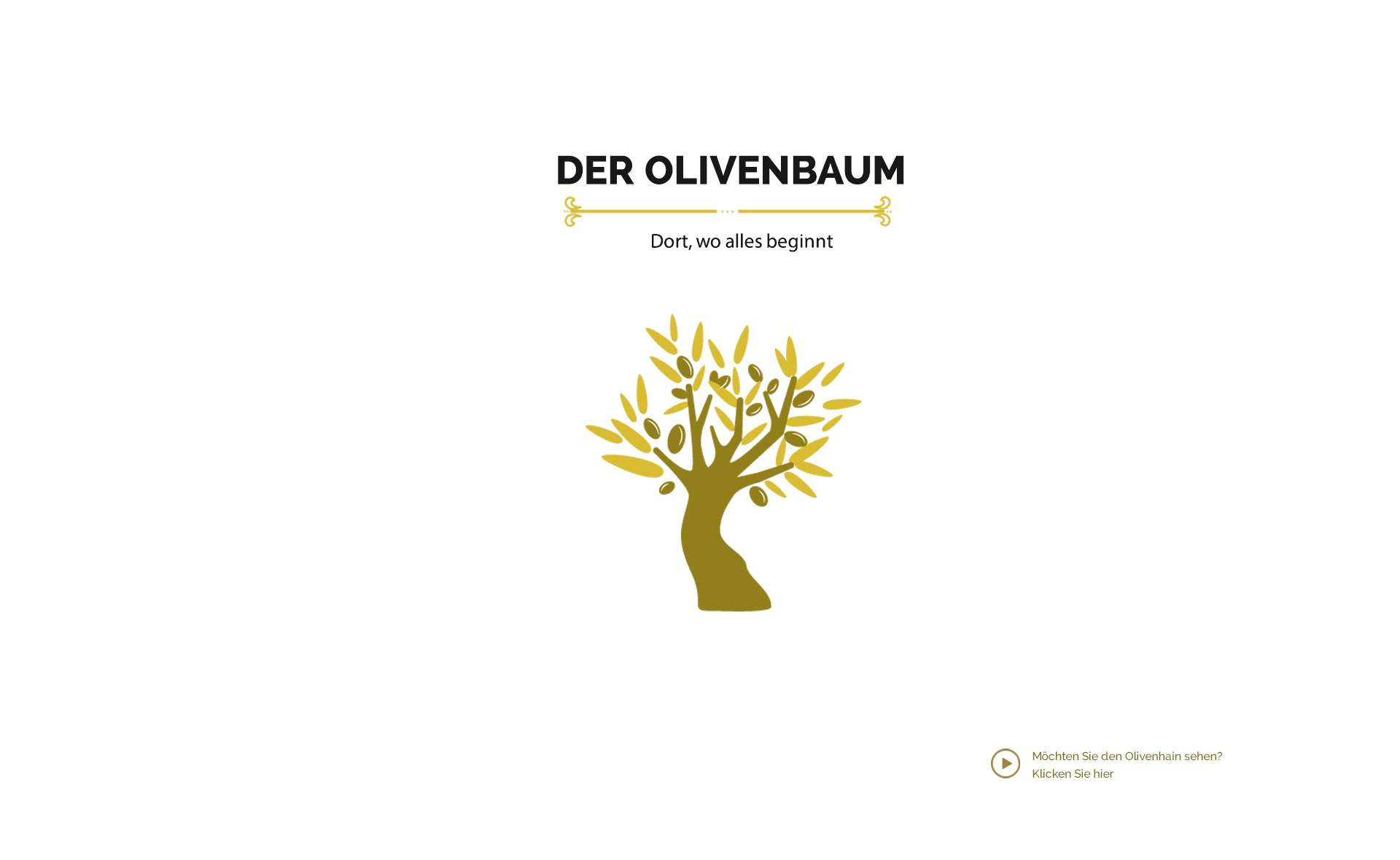 Olivenöl kommt aus dem Olivenbaum