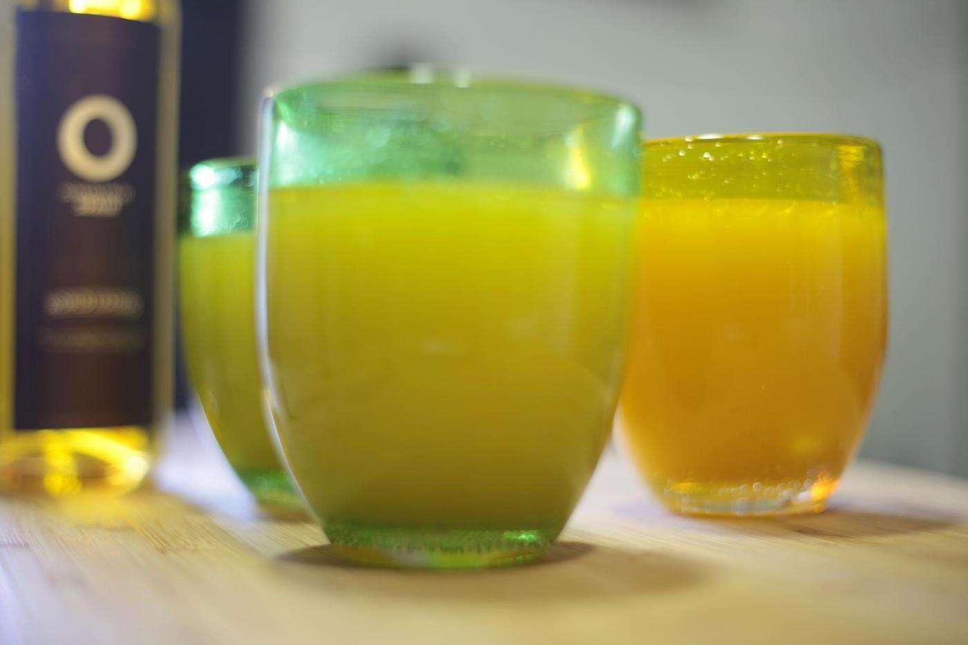 Zumo con aceites de oliva