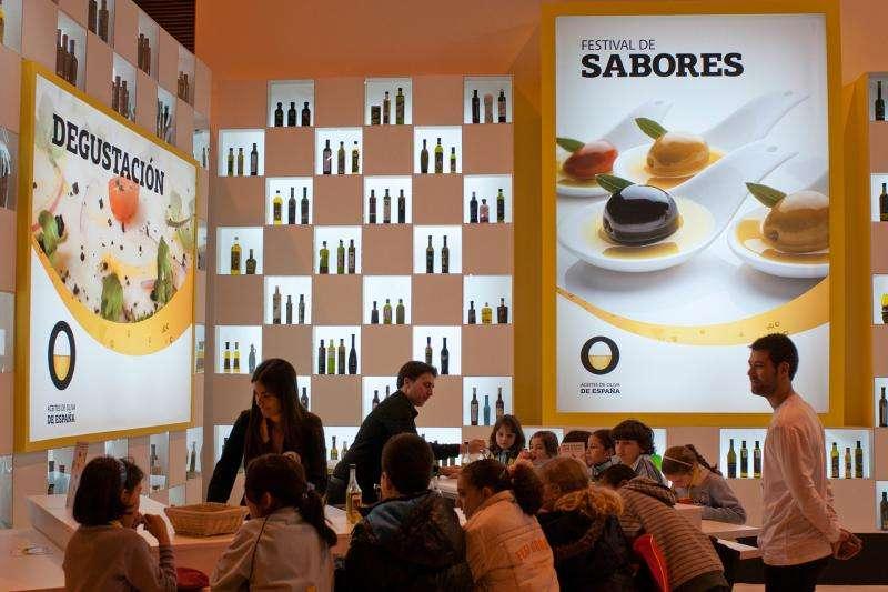 Stand Olivenöle aus Spanien