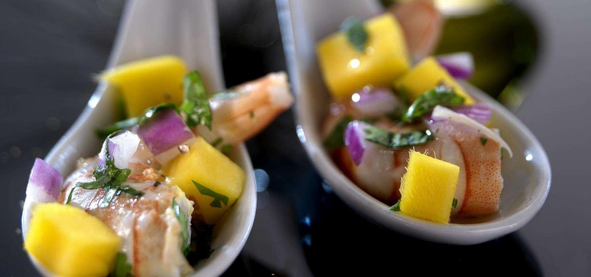 Riesengarnelen-Ceviche mit Mango