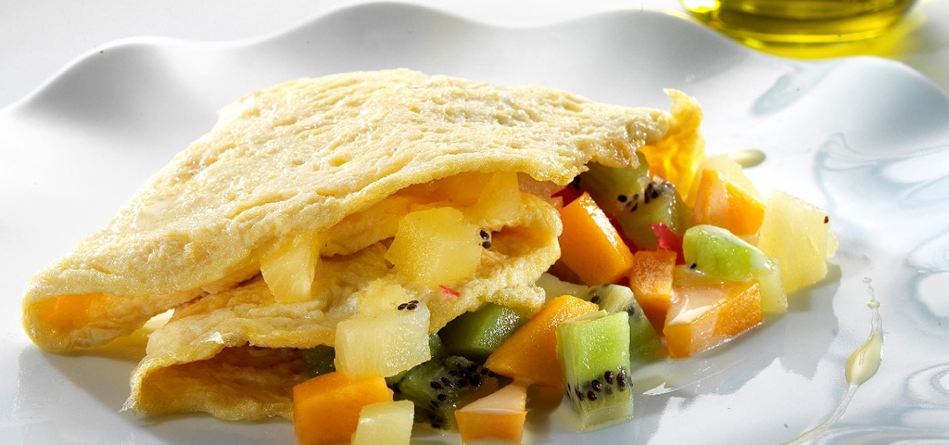 Tropisches Omelette